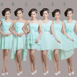 Trägerlos Kurz Chiffon Junior Brautjungfer Kleid 2016 Lace Up Brautjungfer Kleid 6 Stil Mischauftrag Schnelles Verschiffen von Fabrikanten
