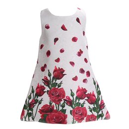 Wholesale Bebe Summer Dresses - 2016 Casual Children Girl Wedding Princess Baby Party Dress,Toddler Floral Sleeveless Vestidos De Bebe Baby Girl Clothes Dresses