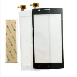 Autocollant en verre iphone 3m en Ligne-Vente en gros - Nouvel écran tactile pour Fly FS501 Nimbus 3 FS 501 Capteur Écran Tactile Digitizer Vitre Avant + Autocollant 3m avec Numéro de Suivi