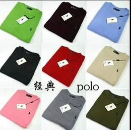 Wholesale Polo Neck Men - Wholesale-autumn sweater men New 2018 famous brand pullover men polo sweater Camisola homens sueter de hombres vestidos blusa masculina