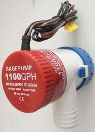 Wholesale Dc Electric Pump - DC 12V 24V 1.8AMP 3AMP 1100GPH Micro Mini Submersible Water Bilge Pump for boat HYBP1-G1100-01 SFBP2-G1100-01 CE electric