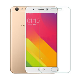 Wholesale Oppo Screen - For OPPO A71 A77 F3  F5 A59 F1S A37 A35 F1 A57 A39 Tempered Glass Screen Protector Anti-Scratch Protective Film