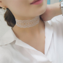 Wholesale Wholesalers Crochet Necklaces - Vintage Handmade Crochet Lace Heart Choker Necklace Collar Sexy Gothic Jewelry For Women