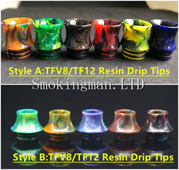 Wholesale Baby Shaping - 810 Thread TFV8 TFV12 Drip Tips Cone Shape Resin Mouthpiece for SMOK TFV8 TFV12 TFV8 Big Baby drip tip Tank Kennedy RDA With Retail Package
