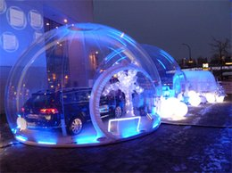 Wholesale Inflatable Field - Wholesale- Transparent inflatable bubble lodge tent giant inflatable bubble globe tent camping inflatable snow bubble tent