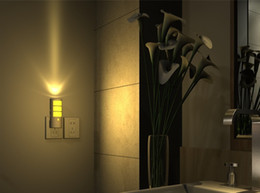 Wholesale Motion Sensor Wall Light Switch - Sunshine Led Motion Activated Night Light,Human Body Sensor Light,5-in-1 Mult-Function Wall Light, Flashlight, US Plug LLFA
