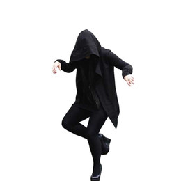Wholesale Long Sections Trench Coats - Wholesale- 2017 trench coat men darkness with the witch in the long section of the windbreaker male hooded assassin creed sweater cloak