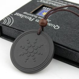 Wholesale East Indian Jewelry Necklace - Quantum Pendant Necklace Scalar Energy Pendant with Negative Ion Energy Pendant Black Lava Stone Jewelry Negative Ion Science Bio Pendant