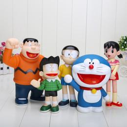 Maquetas de pvc online-5 unids / set Doraemon 19 cm / 7.5 pulgadas de acción de PVC prototipo de juguete Doraemon modelos Kit de garaje 10-12 cm Conjuntos familiares