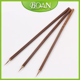 gemalte bambuskunst Rabatt Großhandelsgroßverkauf 100pcs / bag Wiesel-Haar-Bürsten-Bambusgriff-Bürsten-Nagel-Kunst-Anstrich-Bürsten 1 # Freies Verschiffen