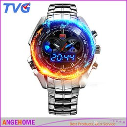 Wholesale New Km Fashion - 2016 Trendy Men's Sport military Watch TVG KM-468 Fashion LED Analog Dive Watch for Men Dual Movements Waterproof Students electronic wa