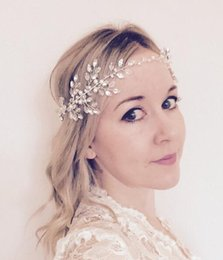 Venta al por mayor de la boda perla nupcial venda del pelo banda cinta  corona Tiara plata Crystal Rhinestone Headpiece accesorios para el cabello  Prom ... fe39a90cc21b