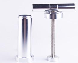 Wholesale Metal Compressor - T-handle Pollen Press Heavy Duty Metal T Shaped Pollen Presser Presser Compressor herb grinder Tobacco Spice Crusher Grinder Hand Muller