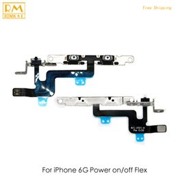 Wholesale Iphone Volume Switch - 5pcs lot Original For iPhone 6G 6 Plus 6S 6S Plus Headphone Audio Flex Jack Power Volume Mute Silent Switch On Off Flex Cable Ribbon