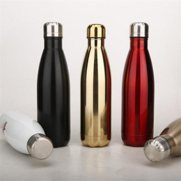 Wholesale Thermos Brand - Manufacturers Sell Hot Gifts Custom Thermos Cup Tide Brand Sports Kettle 304 Stainless Steel Creative Cola Bottle Cup