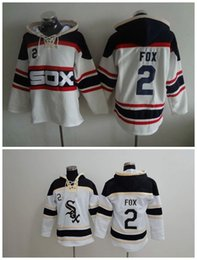 Wholesale Men Winter Jacket Fox - Top Quality ! Cheap Chicago White Sox Old Time Baseball Jerseys #2 Nellie Fox White Baseball Hoodie Pullover Sweatshirts Winter Jacket