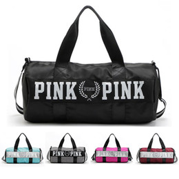 Wholesale Casual Luggage - Canvas Storage Bag organizer Large Pink Men Women Travel Bag Waterproof Casual Beach Exercise Luggage Bags