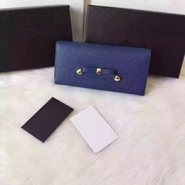 Wholesale Nice Goods - very nice good quality cowhide leather brand bow style wallet for women free shipping