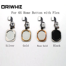 Wholesale Ordering Black Roses - Real Pictures High Quality Home Button with Flex for iPhone 6S Silver Gold Black Rose Gold Mix Order
