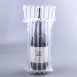 sacs en plastique rouge Promotion Rouge Vin Peau Sac Antichoc Transparent En Plastique Air Bulle Colonne D'inflation Sacs D'emballage Sécurité Poche Durable 0 66ys CB