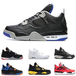 Zapatos de los deportes de motor online-4s Alternate Motorsport Black Game Zapatillas de baloncesto Royal Men Bred zapatillas 25 Aniversario 4s Mujer Entrenadores atléticos Con caja