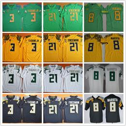 Wholesale Oregon Ducks Shorts - Men Marcus Mariota 8 Royce Freeman 21 Vernon Adams Jr 3 stitched Oregon Ducks College football jerseys