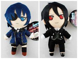 2019 mario großer plüsch Black Butler Plüschtiere Phantomhive Kuroshitsuji Ciel und Sebastian figurieren weiches Stuffed Dolls Cosplay