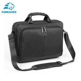 Wholesale Notebook Body - Wholesale-Kingsons Laptop Bag Notebook Computer Handbag Men Notebook Black Nylon Laptop Bags 14.1 Suit for Business Travel School