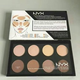 Wholesale Dark Shadows Makeup - newest! NYX Highlight & Contour Palette Review 8 Colors Face Pressed Powder Foundation Grooming Shadow Powder Palette Makeup Cosmetic