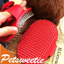 Wholesale Rubber Brush For Dogs - Dog Brush Rubber Adjustable Grooming Tool For Cat & Pet Long Hair Short Hair Expert Comb For Dog Pet Free Shipping