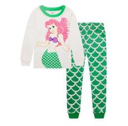 Wholesale Grils Sets - Cartoon Baby grils Pajamas underwear Suits Autumn Long Sleeve Children Pajamas Kids Sleepwear Sets kids PJ'S Boy Clothing P223