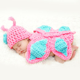 Wholesale Cute Outfits For Boys - New Cute Photography Photo Prop Crochet knit Baby Outfits Set For Newborn Boys and Girls Accessories
