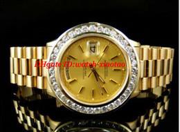 2019 pré possuído Relógio De Pulso De luxo Pre-Owned Mens 41 MM 18 k Ouro Amarelo Maior Diamante Relógio Automático Mens Watch Relógios dos homens de Alta Qualidade desconto pré possuído