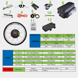 Wholesale Brushless Electric Hub Motors - CBSEBIKE New 36v500w high speed motor, brushless electric bicycle Rear wheel hub, electric bicycle motor kit