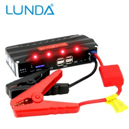Wholesale Start Phone - LUNDA Super Car Jump Starter Auto Engine EPS Emergency Start Battery Source Laptop Portable Charger Mobile Phone Power Bank