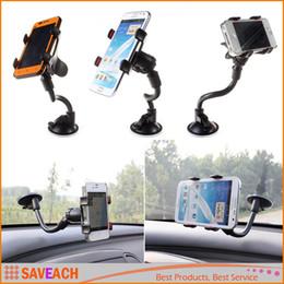 suporte de telefone para pára-brisas atacado Desconto Suporte de Hight Qualidade Car Mount 360 Rotação Windshield Bracket para GPS Mobile Phone Atacado Com Caixa De Varejo