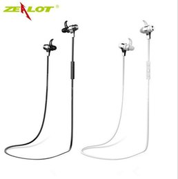 Wholesale Sport Mp3 Wireless - ZEALOT H2 Wireless Sport Earphone Best Quality 4.0 Bluetooth Self-timer MP3 Phone Call Support Black and White Colors