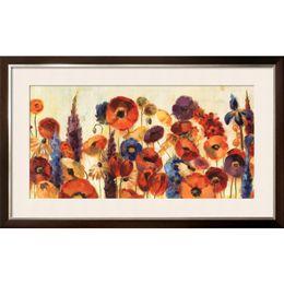 Aceite de lona de jardín online-Silvia Vassileva arte abstracto Pinturas Joyful Garden lienzo reproducción de aceite Pintado a mano de alta calidad