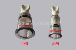 Wholesale Pussy Suckers - 2PCS High Quality Small Size 1.8cm Nipple Pussy Clitoris Sucker Pump Stimulator Massager Sex Toys For Women ABS Sex Products