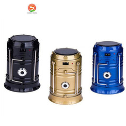 Wholesale Portable Lanterns - New Style Portable Outdoor LED Camping Lantern Solar Collapsible Light Outdoor Camping Hiking Super Bright Light