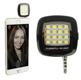 Wholesale Hot I5 - Hot LED Selfie Flash Light RK05 For Iphone Smartphone i5 i6 note 4 s5 Running iOS Android WP8 Phone 3.5mm Jack Plug
