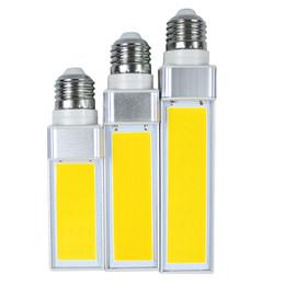 Wholesale E27 Pl - Lampada E27 10W 12W 15W COB LED Corn Light AC85V-265V Horizontal Plug lamp Bombillas LED PL Corn Bulb Spot light