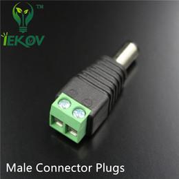 50 pcs mâle Connecteur Prises Jack Pour 5050/3528 SMD LED Bande Sigle couleur Lumière DC Alimentation Alimentation AC Adaptateur Plug Câble vente chaude ? partir de fabricateur