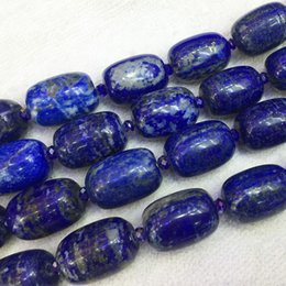 "Wholesale Oval Lapis Beads - Natural Genuine Dark Blue Lapis Lazuli Big Oval Loose Beads 15x20mm 15.5"" 05356"
