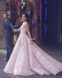 Wholesale Beauty Skirt - Blush Pink Lace Women Formal Evening Dresses Ball Gown Over Skirts Sleeveless Tulle 2017 Arabic Beauty Queen Pageant Dress Gowns for Prom