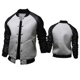 Wholesale Menswear Jacket - Fall-2015 New arrival spring autumn menswear fashion casual big pocket mens coat jackets men's short baseball jacket free shipping