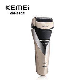Wholesale Kemei KE Cordless Electric Shaver Razor Trimmer Rechargeable Reciprocating Double Groomer EU Plug Black Gold KEMEI HAIR Shaver