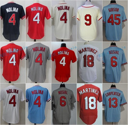 Wholesale Musial Jersey - Yadier Molina Stan Musial Roger Maris Carlos Martinez Bob Gibson Stan Musial Matt Carpenter Flexbase Jerseys Cool Base Throwback Stitched Re