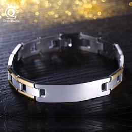 Wholesale Unique Bracelet Designs - Unique Design Gold Plated Stainless Steel Bracelet Silver Color 210 mm Charm Bracelet for Men GTB03
