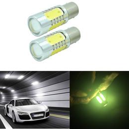Wholesale Led Drl Lancer - 4x White 1156 LED Bulbs for Mitsubishi Lancer Evo X Daytime Running Light DRL